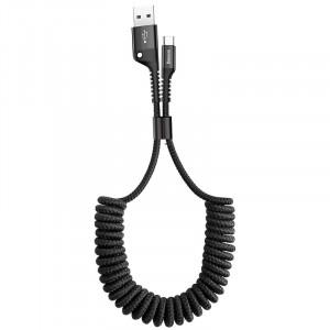 Дата кабель Baseus Fish Eye Spring Data Type-C Cable 2A (1m) black