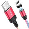 """Дата кабель Hoco U90 """"Ingenious streamer"""" Lightning (1m) red"""