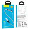 "Дата кабель Hoco U90 ""Ingenious streamer"" Micro USB (1m) blue"