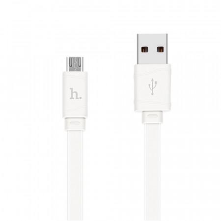 Дата кабель Hoco X5 Bamboo USB to Micro USB (1m) white
